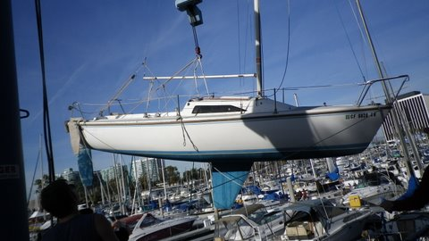CAPRI 22 DONATED BY CATALINA YACHTS RE-COMMISSIONED - February 2012